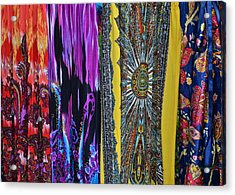 Psychedelic Dresses Acrylic Print by Frozen in Time Fine Art Photography