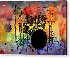Psychedelic Drum Set Acrylic Print