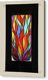 Psychedelic Flames Acrylic Print by Rick Roth