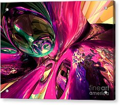 Psychedelic Fun House Abstract Acrylic Print