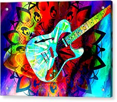 Psychedelic Guitar Acrylic Print