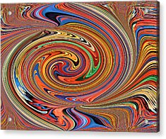 Psychedelic Acrylic Print by Kristin Elmquist