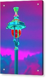 Psychedelic London Streetlight Acrylic Print by Richard Henne