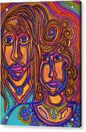 Psychedelic  Peace Vision Acrylic Print by Gerri Rowan
