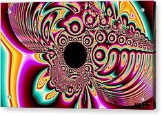 Psychedelic Swirls Acrylic Print