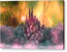 Psychedelic Tendencies   Acrylic Print by Linda Sannuti