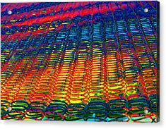 Psychedelic Yarn Acrylic Print by James Hammen