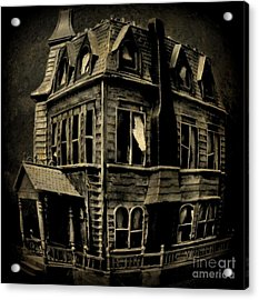Psycho Mansion Acrylic Print by John Malone