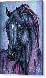 Psychodelic Deep Blue Acrylic Print by Angel  Tarantella