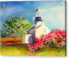 Pt Loma Lighthouse Acrylic Print by Lori Chase