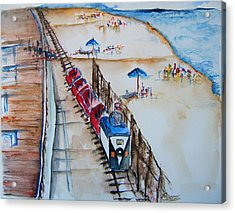 Pt Pleasant Nj Sand Train Acrylic Print