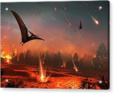 Pterosaurs And Mass Extinction Acrylic Print by Mark Garlick