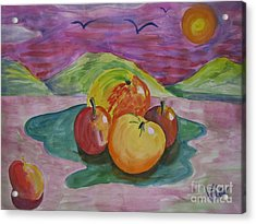 ptg. Fruit Today's Demo Acrylic Print by Judy Via-Wolff