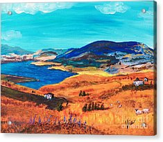 Ptg   Italian Countryside Acrylic Print by Judy Via-Wolff