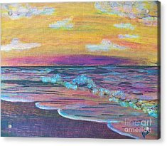 ptg  Sanibel Sunset Acrylic Print by Judy Via-Wolff