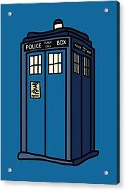 Public Call Box Acrylic Print by Jera Sky