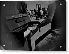 Public Music Acrylic Print by Frederico Borges