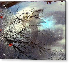Acrylic Print featuring the digital art Puddle Art by Dale   Ford