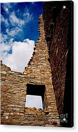 Acrylic Print featuring the photograph Pueblo Bonito New Mexico by Jacqueline M Lewis