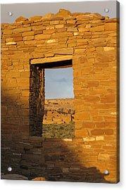 Pueblo Bonito Through A Doorway Acrylic Print by Feva  Fotos