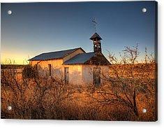 Pueblo Church Acrylic Print by Peter Tellone