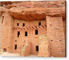 Pueblo Cliff Dwellings Acrylic Print by Tony Crehan