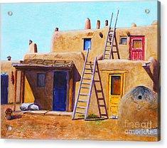 Pueblo Acrylic Print by Karen Fleschler