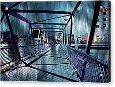 Puente De La Trinidad 1. Malaga Bridges. Spain Acrylic Print by Jenny Rainbow