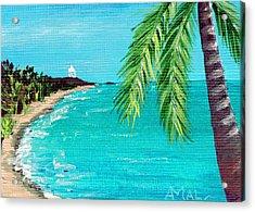 Puerto Plata Beach  Acrylic Print by Anastasiya Malakhova
