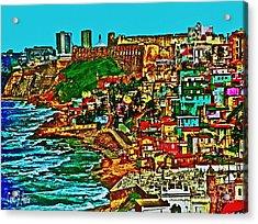 Old San Juan Puerto Rico Walled City Acrylic Print