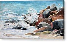 Puerto Vallarta Rocks Acrylic Print by Joan Hartenstein