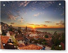 Puerto Vallarta Sunset Acrylic Print