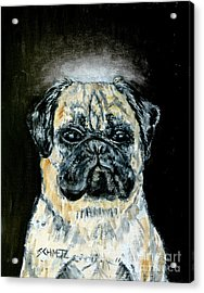 Pug Angel Acrylic Print by Jay  Schmetz