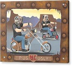 Pug Ugly M.c. Acrylic Print by Stuart Swartz