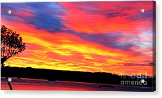 Puget Sound Colors Acrylic Print