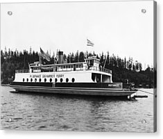 Puget Sound Ferry Boat Acrylic Print by Underwood Archives