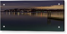 Puget Sound Reflections Acrylic Print by Greggory Burt