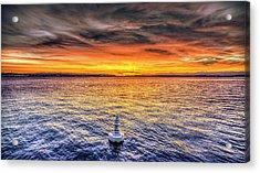 Puget Sound Sunset Acrylic Print by Spencer McDonald