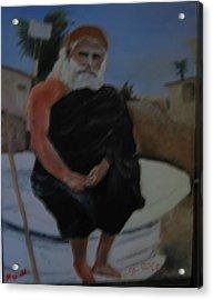 Pujya Bapji Acrylic Print by M Bhatt