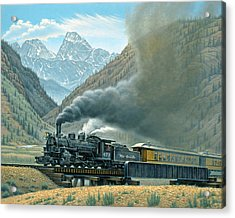 Pulling For Silverton Acrylic Print by Paul Krapf