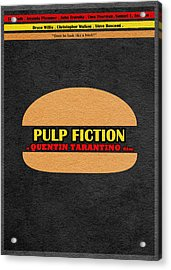 Pulp Fiction Acrylic Print by Ayse Deniz