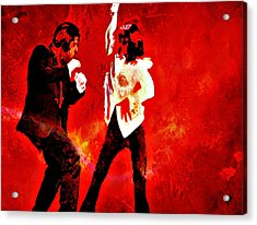 Acrylic Print featuring the painting Pulp Fiction Dance 2 by Brian Reaves