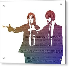 Pulp Fiction Typography Acrylic Print by Dan Sproul