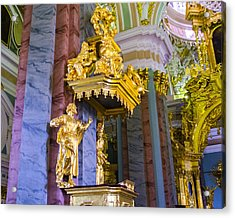Pulpit - Cathedral Of Saints Peter And Paul - St Petersburg - Russia Acrylic Print