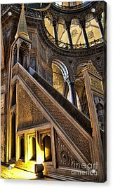 Pulpit In The Aya Sofia Museum In Istanbul  Acrylic Print