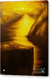 Pulpit Rock-preikestolen-original Sold-buy Giclee Print Nr 27 Of Limited Edition Of 40 Prints  Acrylic Print by Eddie Michael Beck