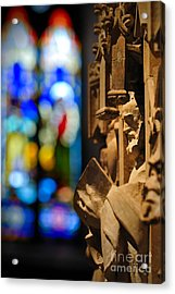 Pulpit Trinity Cathedral Pittsburgh Acrylic Print by Amy Cicconi