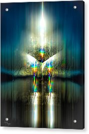 Pulsar Ignition Acrylic Print by Glenn Feron