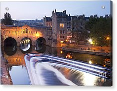 Pulteney Bridge And Weir Bath Acrylic Print by Colin and Linda McKie