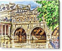 Pulteney Bridge Bath Acrylic Print